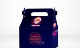 "Burger King's ""Valentine's Adult Meal."""