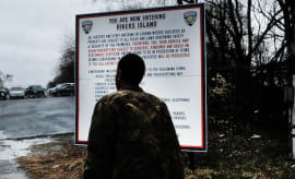 Rikers Island on March 31, 2017 in New York City