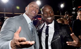 The Rock and Tyrese