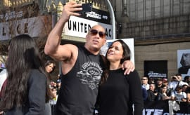 Vin Diesel and Michelle Rodriguez visit Washington Heights