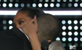 Drake and Rihanna at the VMAs.