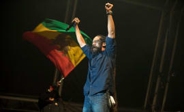 Damian Marley performs on stage during the second day of Cruilla Festival