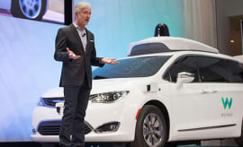 Waymo during Detroit Car Show.
