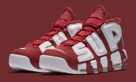 Red Supreme Nike Air More Uptempo 902290-600