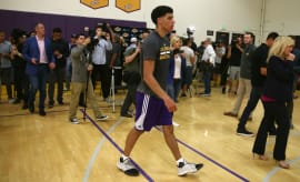 Lonzo Ball Lakers Workout Adidas Harden Vol. 1
