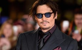 Johnny Depp attends the UK Premiere of 'Mortdecai'
