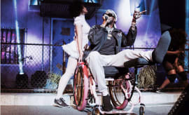 2 Chainz performing in a wheelchair