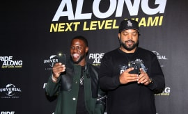 Kevin Hart and Ice Cube in Berlin.
