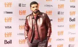 Drake at the red carpet for the movie, 'The Carter Effect.'