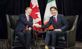 Justin Trudeau Wore Star Wars Socks To Meet Enda Kenny