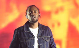 Kendrick Lamar performs.