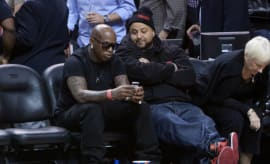 Birdman and DJ Khaled Attend Miami Heat vs Phoenix Suns Game, November 2010