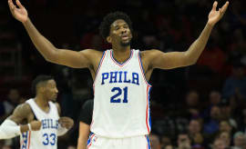 Joel Embiid of the Philadelphia 76ers.