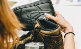 Wings Air Jordan 1 Black Leather