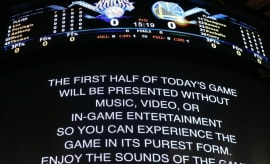 The Knicks decided not to play music during the first half of a game.