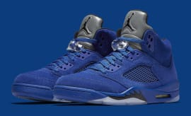 Air Jordan 5 Royal Blue Suede Flight Suit Release Date Main 136027-401