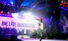 Ariana Grande performs at her One Love Manchester concert