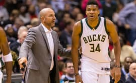 Jason Kidd and Giannis Antetokounmpo.