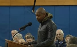 Dave Chappelle at city council meeting
