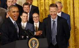 President Obama Steve Kerr White House Warriors NBA Champs