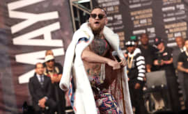 Conor McGregor Barclays Center Press Conference 2017 Getty