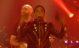 "This is Ms. Lauryn Hill performming ""Lost Ones"" in Paris."