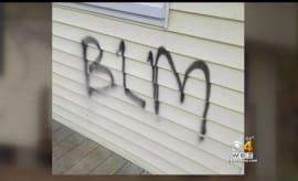 Fake BLM graffiti in Mass.
