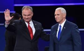 Kaine and Pence at VP debate