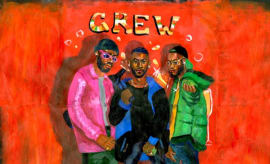"GoldLink ""Crew"" single art."