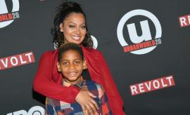 La La Anthony and her son Kiyan.