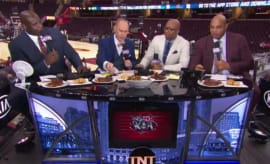 Things get super tense between Shaq and Charles Barkley on TNT.