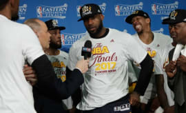 LeBron James talks about the Cavaliers winning the Eastern Conference Finals.