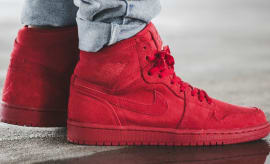Air Jordan 1 Red Suede On-Foot 332550-603 (2)