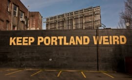 Keep Portland Weird sign.