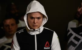 Ronda Rousey walks to the octagon.