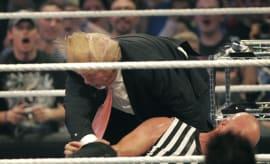 Stone Cold Steve Austin Stunner Donald Trump WrestleMania 23