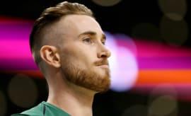 Gordon Hayward before a Celtics' preseason game.