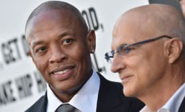 Dr. Dre and Jimmy Iovine at Premiere Of HBO's 'The Defiant Ones'