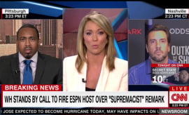 Clay Travis talks to Brooke Baldwin on CNN about Jemele Hill.