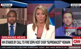 Clay Travis talks to Brooke Baldwin on CNN about Jemele Hill.