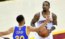 J.R. Smith plays in Game 3 of the 2017 NBA Finals.