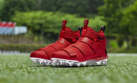 Nike LeBron Soldier 11 Cleats Ohio State Red Release Date AO9146-600