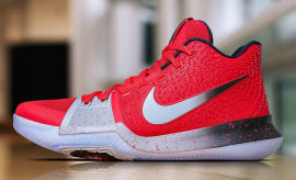 Nike Kyrie 3 Red Silver PE Profile