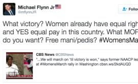 Flynn Jr. tweet