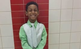A photo of eight-year-old Gabriel Taye, who committed suicide.