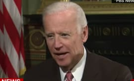 "Joe Biden tells Donald Trump that ""It's time to grow up."""