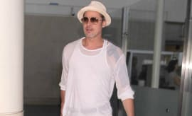 Brad Pitt arrives at LAX.
