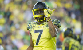 Oregon ducks wide receiver Darren Carrington II.