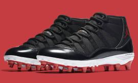 Air Jordan 11 XI Cleats Bred Release Date AO1561-010 Pair 87d0d04be3