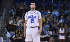 LiAngelo Ball at Cal State/UCLA game in November 2017